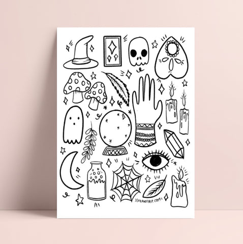 Printable Magic Coloring Page