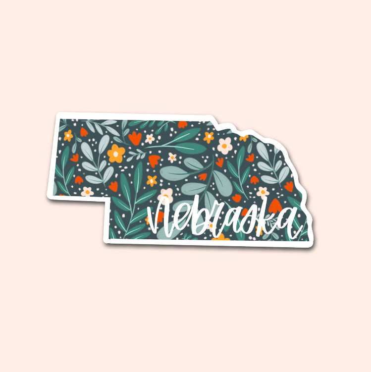 Nebraska Floral Pattern Sticker