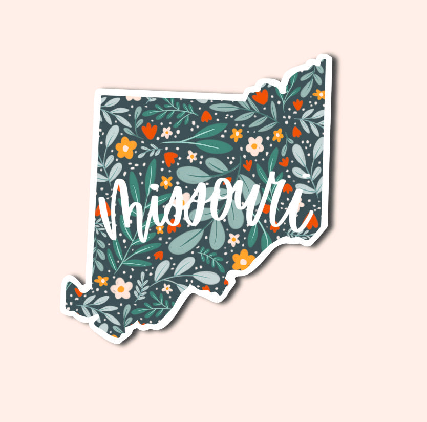 Missouri Floral Pattern Sticker