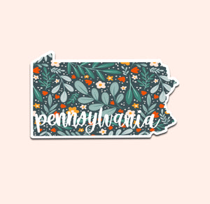 Pennsylvania Floral Pattern Sticker