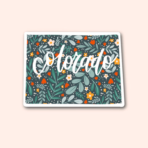 Colorado Floral Pattern Sticker