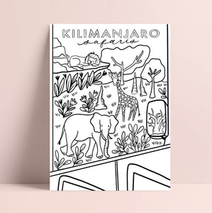 Printable Kilimanjaro Safaris Coloring Page