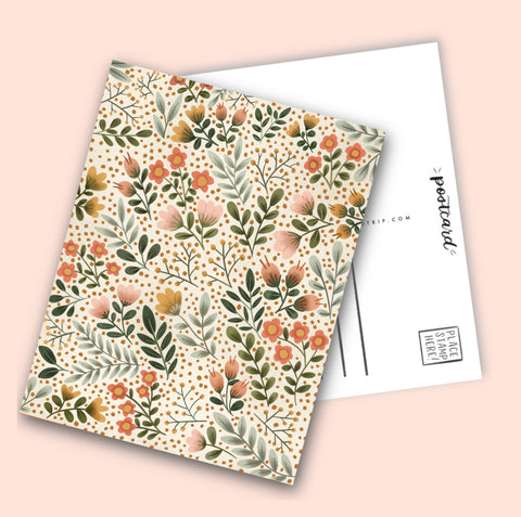 Fall florals Post Card