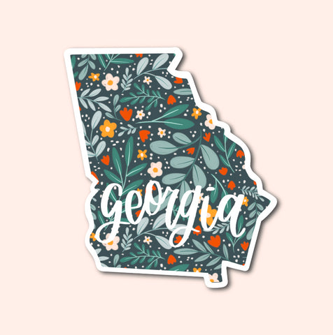 Georgia Floral Pattern Sticker