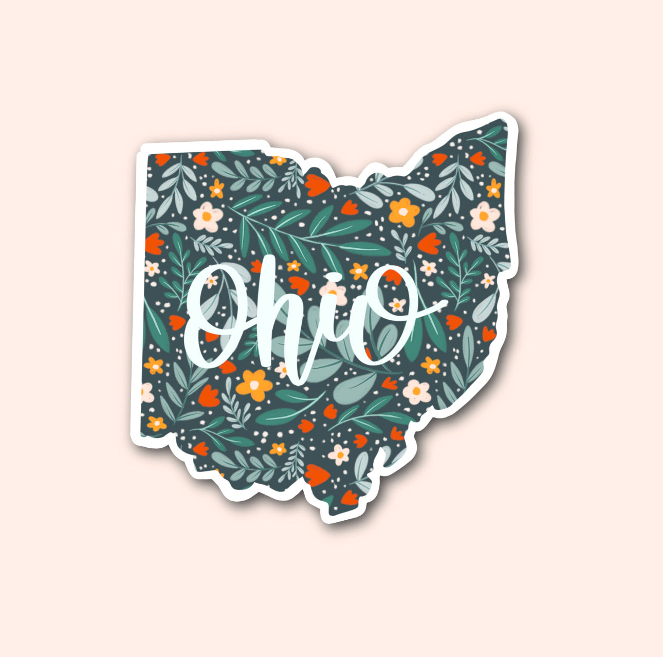 Ohio Floral Pattern Sticker