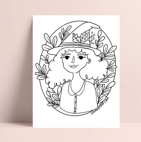 Printable Plant Girl Coloring Page
