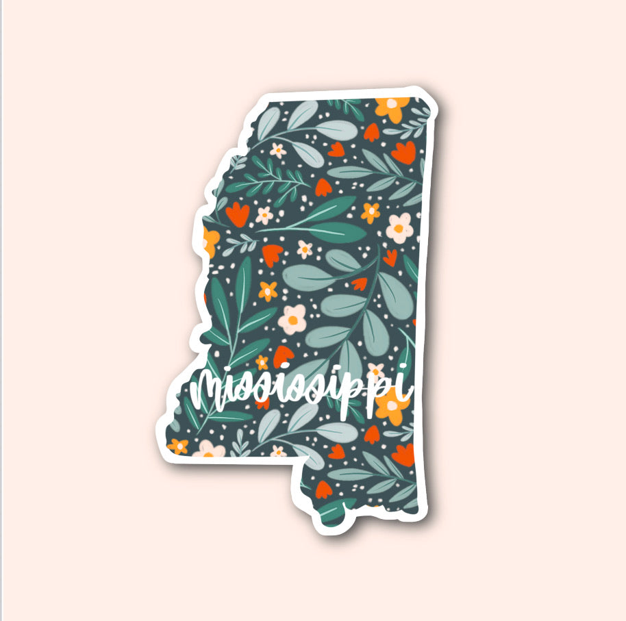 Mississippi Floral Pattern Sticker