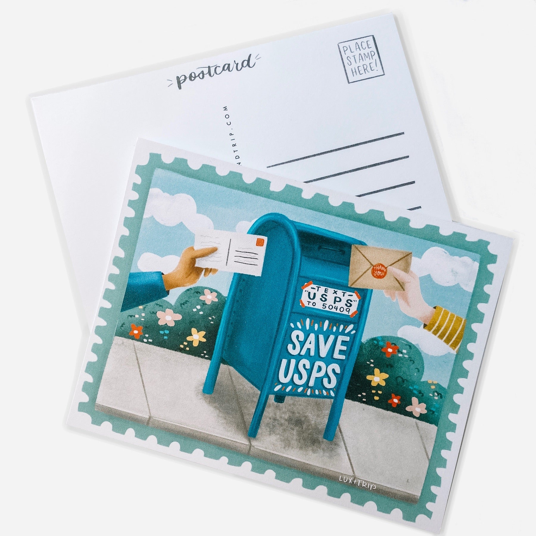 Save The Post Office Post Card