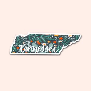 Tennessee Floral Pattern Sticker