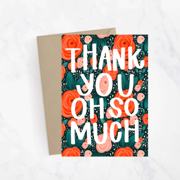 Thank You Florals Greeting Card 1