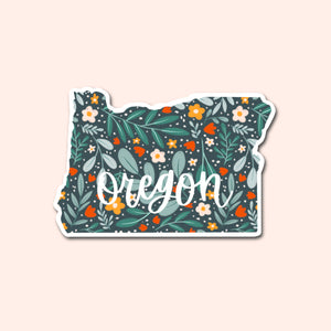 Oregon Floral Pattern Sticker