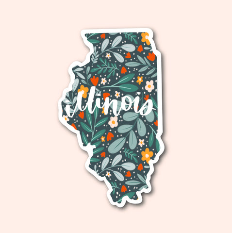 Illinois Floral Pattern Sticker