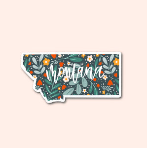 Montana Floral Pattern Sticker