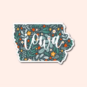Iowa Floral Pattern Sticker