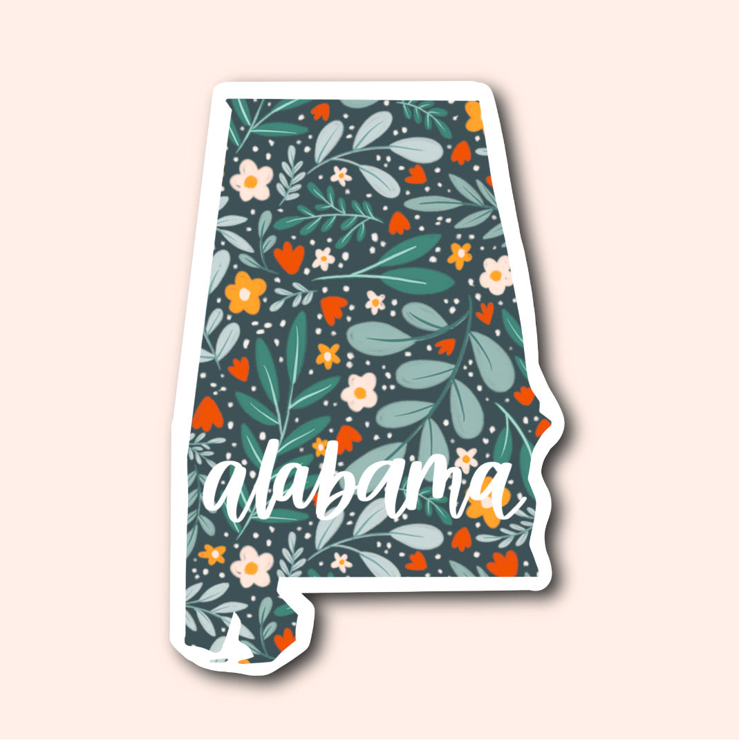 Alabama Floral Pattern Sticker