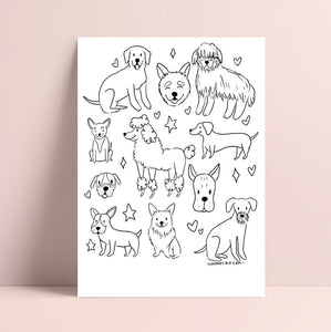 Printable Pup Coloring Page