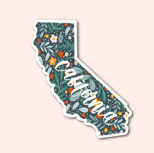 California Floral Pattern Sticker