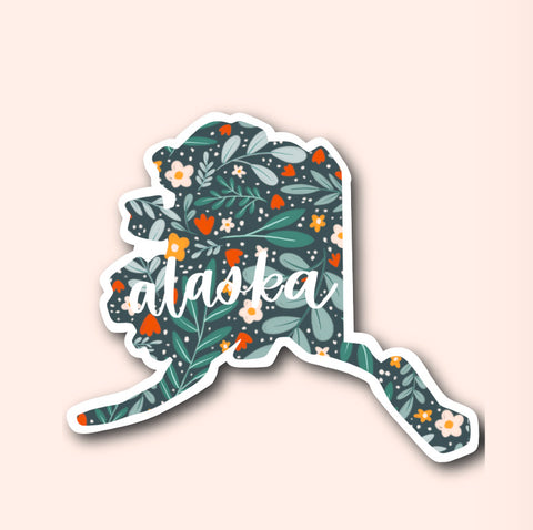 Alaska Floral Pattern Sticker