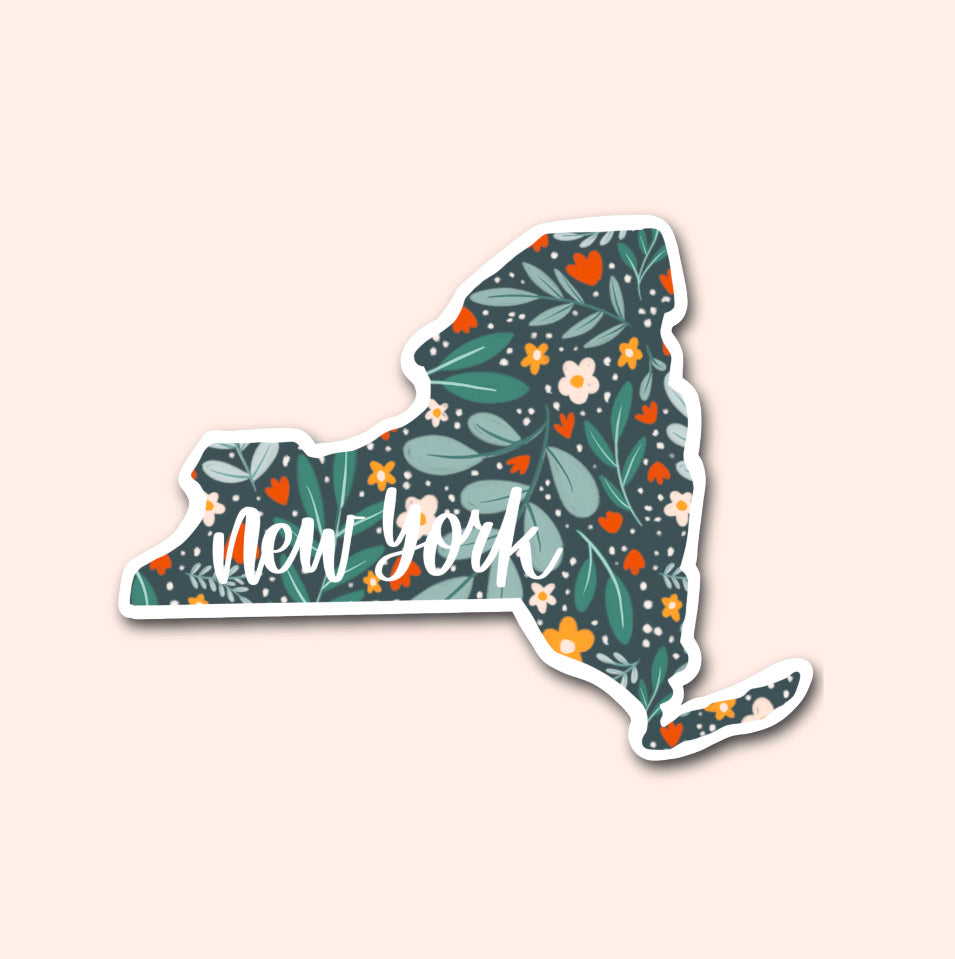 New York Floral Pattern Sticker