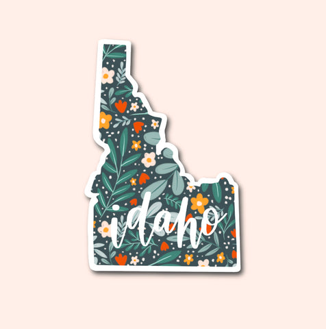 Idaho Floral Pattern Sticker