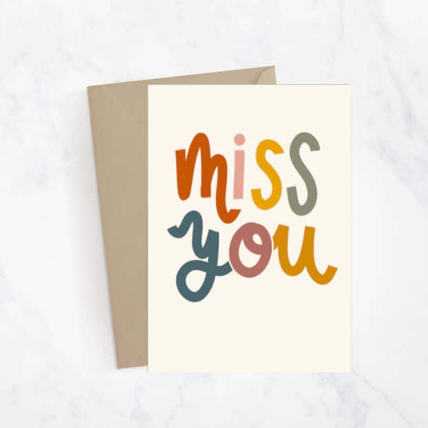 Miss You Greeting Card 1