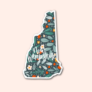 New Hampshire Floral Pattern Sticker