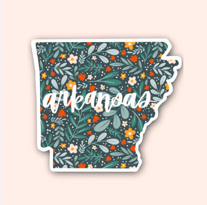 Arkansas Floral Pattern Sticker