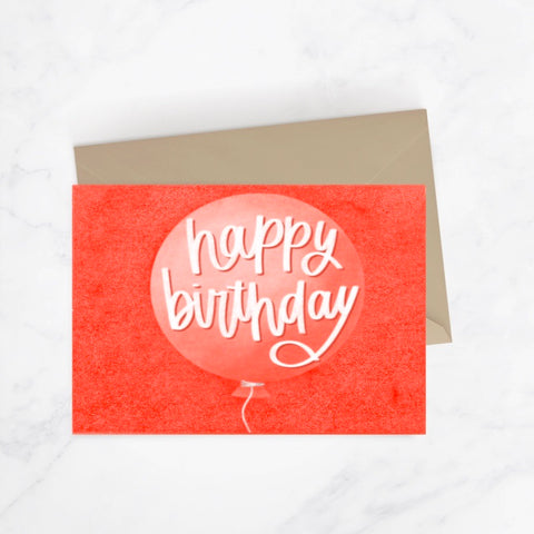 Happy Birthday Balloon Greeting Card
