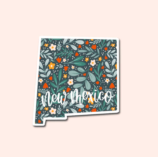 New Mexico Floral Pattern Sticker 1