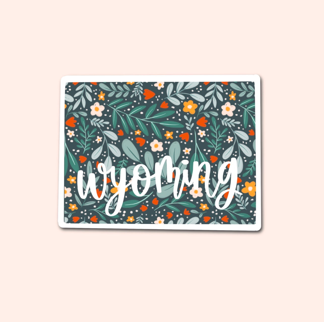 Wyoming Floral Pattern Sticker