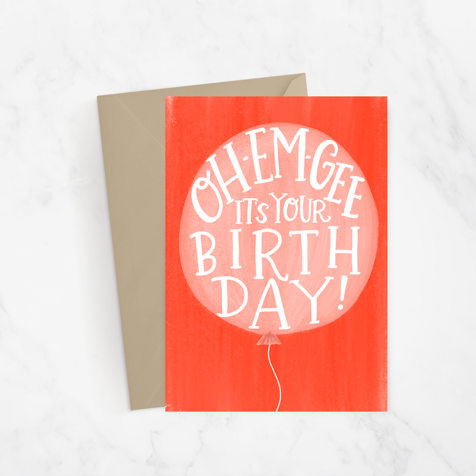 Oh Em Gee! Birthday Greeting Card