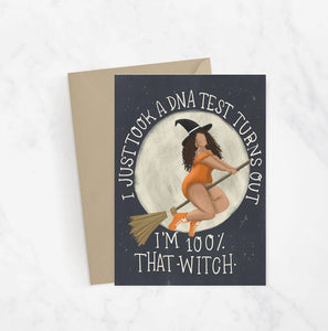 100% That Witch Greeting Card