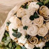Custom Bouquet - Wood flowers Bouquets, Boutonniere, wedding Floral Decor & Accessories - Papiro Wood Flower Designs