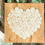 Classic Heart of Flowers - Wood flowers Bouquets, Boutonniere, wedding Floral Decor & Accessories - Papiro Wood Flower Designs