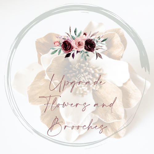 Upgrade Flowers and Brooches - Wood flowers Bouquets, Boutonniere, wedding Floral Decor & Accessories - Papiro Wood Flower Designs