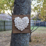 Rustic Heart of Flowers - Wood flowers Bouquets, Boutonniere, wedding Floral Decor & Accessories - Papiro Wood Flower Designs
