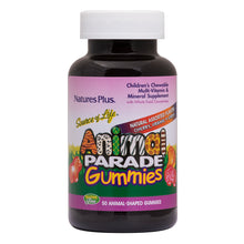Load image into Gallery viewer, Animal Parade® Gummies - Children's MultiVitamin & Mineral Supplement with Whole Food Concentrates (50 Animal-Shaped Gummies)