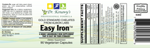 Load image into Gallery viewer, Dr. Kenawy's Easy Iron (90 Vegetarian Capsules)