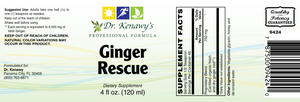 Dr. Kenawy's Ginger Rescue Syrup Concentrated (Organic Fresh & Dry Ginger Root) 4 FL OZ
