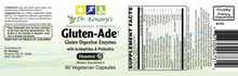 Load image into Gallery viewer, Dr. Kenawy's Gluten-Ade Digestive Enzymes With Acidophilus [Probiotics] & Prebiotics (60 Vegetarian Capsules)