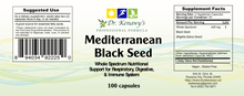 Load image into Gallery viewer, Dr. Kenawy's Mediterranean Black Seed (100 Capsules)
