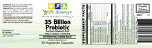 Load image into Gallery viewer, Dr. Kenawy's 35 Billion Probiotic (30 Vegetarian Capsules)