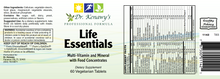 Load image into Gallery viewer, Dr. Kenawy's Life Essentials Multivitamin (60 Vegetarian Tablets)