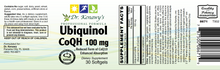 Load image into Gallery viewer, Dr. Kenawy's Ubiquinol CoQH 100MG
