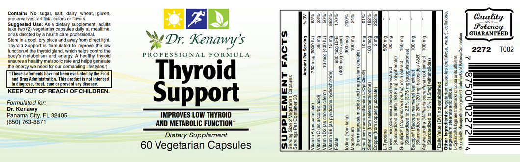 Dr. Kenawy's Thyroid Support (60 Vegetarian Capsules)