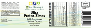 Dr. Kenawy's Ultra Proteo-Zimes (100 Enteric Coated Tablets)