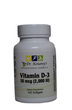 Load image into Gallery viewer, Dr. Kenawy's Vitamin D-3 2,000IU (100 Softgels)