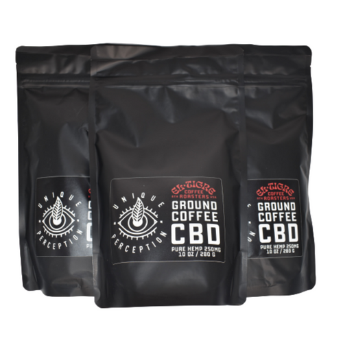Ground CBD Coffee Beans (10oz)