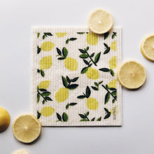 Load image into Gallery viewer, Citrus Lemon Swedish Dish Cloth