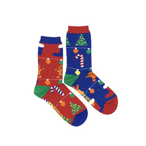 Women's Ugly Christmas Gingerbread Socks
